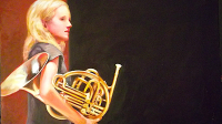 Girl-and-Horn